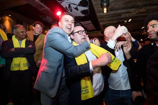 Feest bij Groep de Mos in Danzig bij het horen van de uitslagen van de gemeenteraadsverkiezingen in 2018.