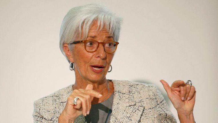 Christine Lagarde, het hoofd van het IMF