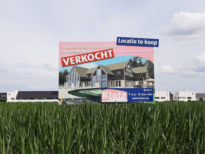 De beoogde locatie voor wereldrestaurant Etenshof, ten zuiden van de wijk Koolhoven in de Reeshof.