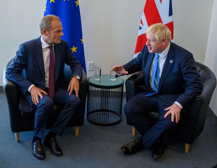 Donald Tusk en Boris Johnson hebben een ontmoeting in de marge van de klimaattop in New York.