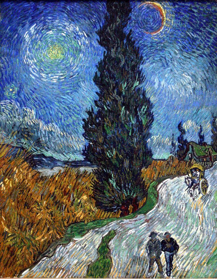 Vincent van Goghs 'Weg met een cipres en een ster'. Beeld null