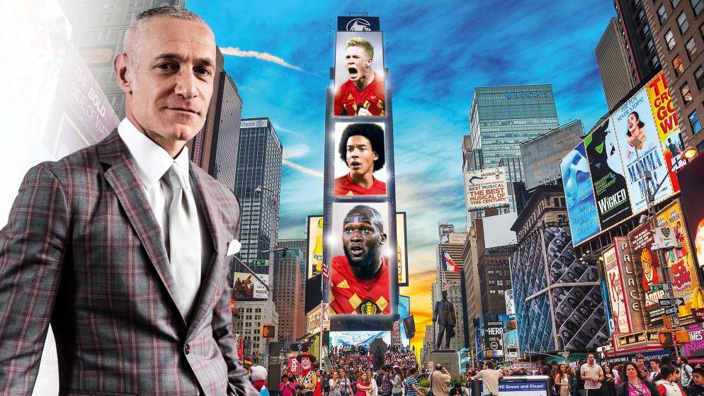 """De man die onze Duivels nog groter maakt: """"Een billboard met Lukaku, Witsel en De Bruyne op Times Square. Zou dat niet geweldig zijn?"""""""