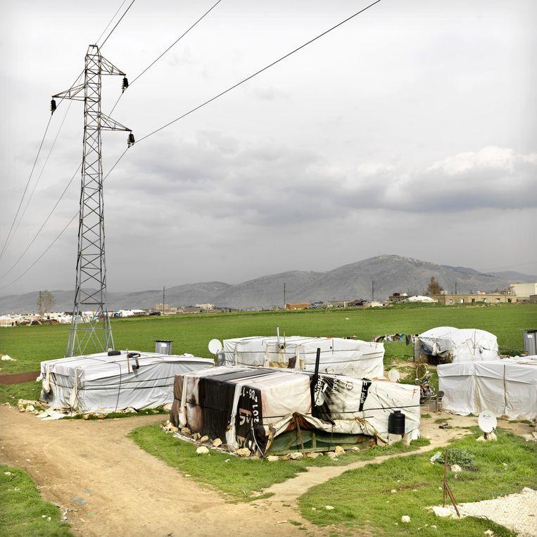 Kampementen in Libanon. Beeld Marieke van der Velden