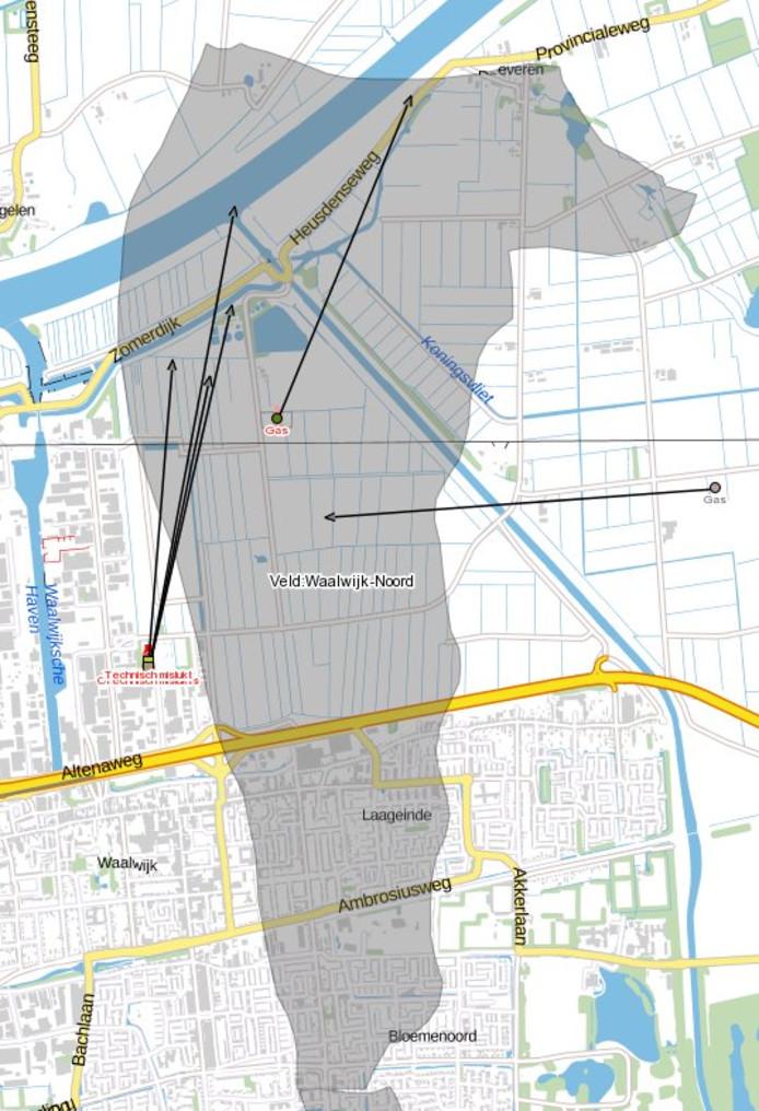 Het gasveld in Waalwijk-Noord waar energiebedrijf Vermillion nog tot 2026 gas wil blijven winnen.