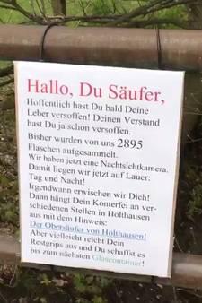 Duitse boer vindt bijna 3000 lege drankflessen op zijn land