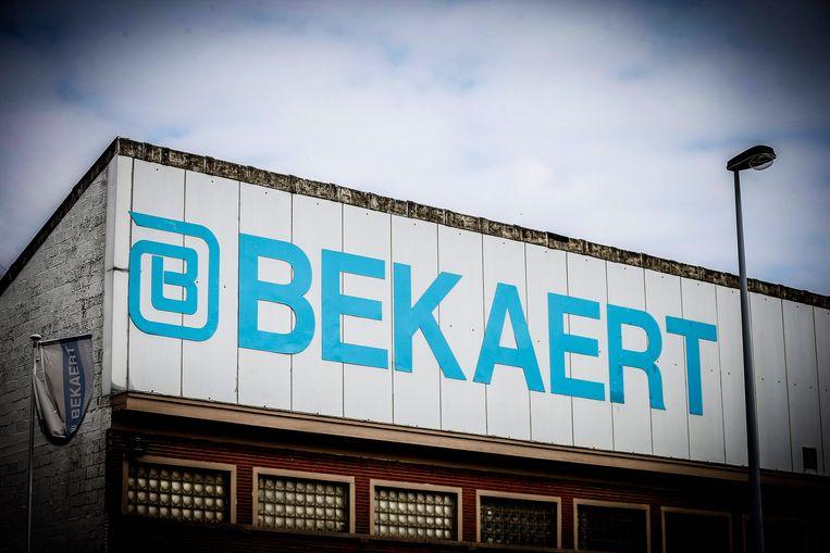 Het logo van Bekaert.