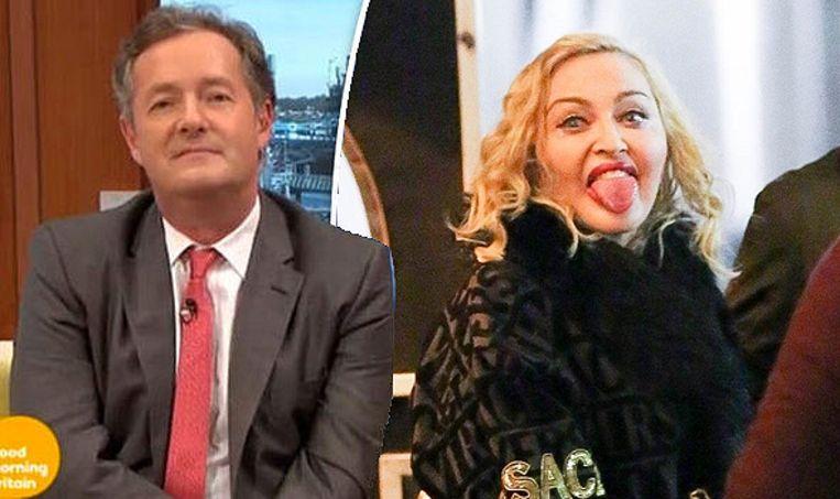 Madonna is niet welkom bij Piers Morgan.