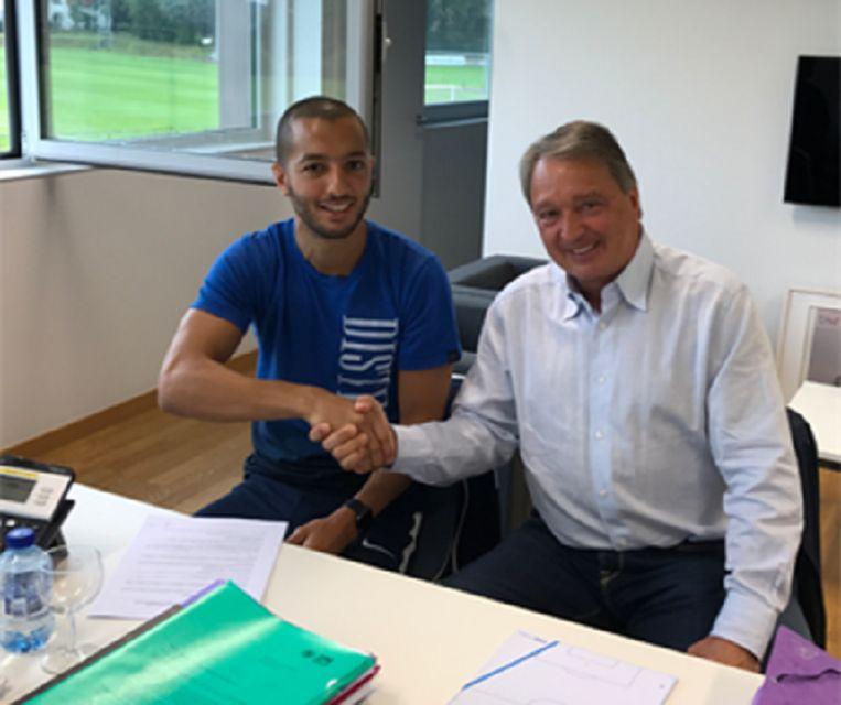Hanni met Anderlecht-manager Herman Van Holsbeeck.