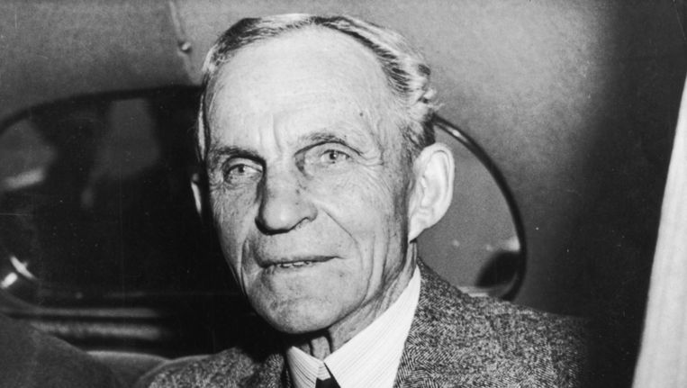Henry Ford in 1938. Beeld Getty Images