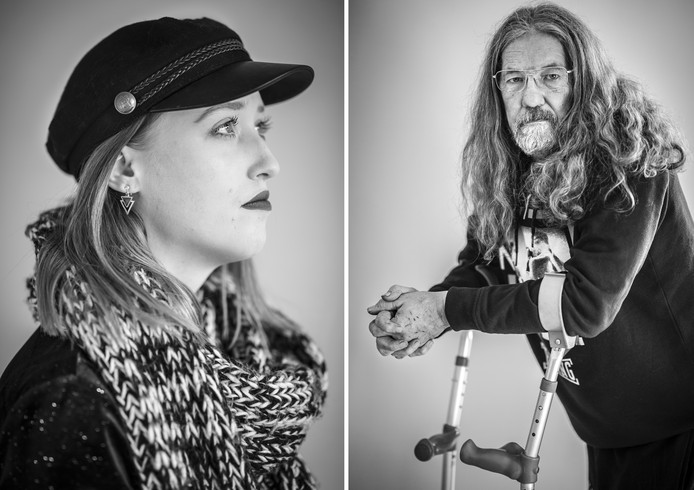 Neeltjes Spierings en Felix Hermans, twee van de veertien geportretteerde Q-koortspatiënten.