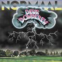 De hoes van Deurdonderen uit 1982. De best verkochte elpee van Normaal wordt opnieuw uitgebracht. De plaat begint met onweer.