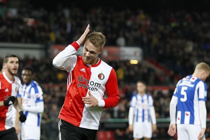 Jørgensen maakte de 3-0, inderdaad, met het hoofd.