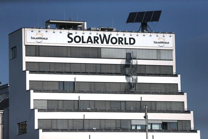 Het hoofdkantoor van SolarWorld in de Duitse stad Bonn.