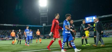 PEC Zwolle-FC Groningen gestaakt: duel wordt maandag uitgespeeld