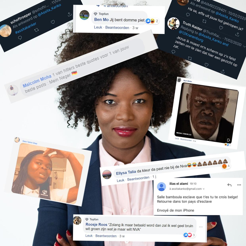 Racistische berichten Beeld Twitter