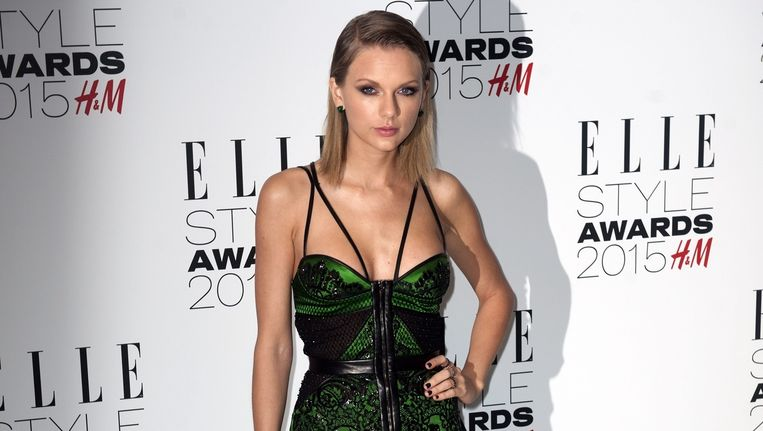 Taylor Swift bij de Elle Style Awards in Londen.