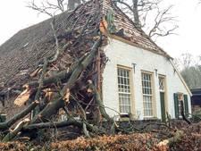 Storm vernielt eerste boerderij Openluchtmuseum in Arnhem
