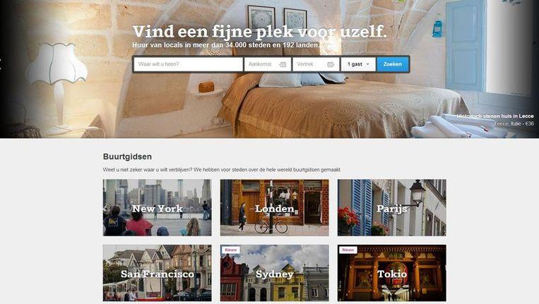 De website Airbnb Beeld airbnb.nl