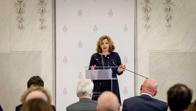 Schippers geeft een persconferentie over de voortgang van de onderhandelingen Beeld anp
