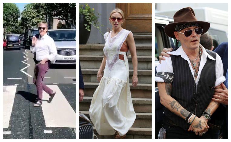 Paul McCartney, Kylie Minogue en Johhny Depp