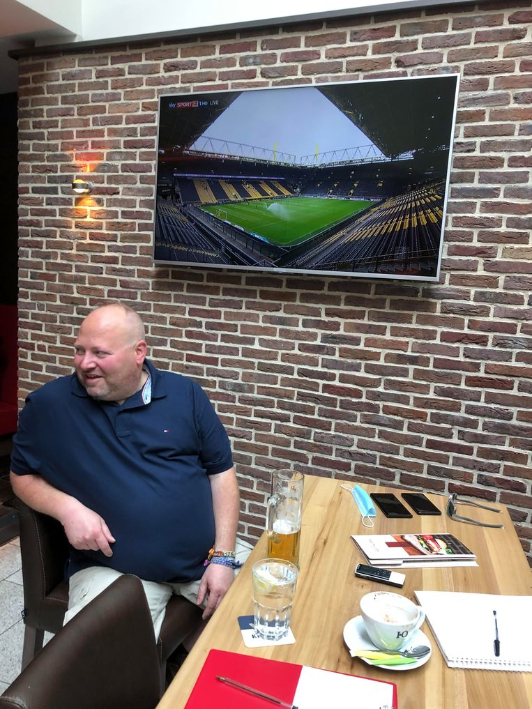 BVB-supporter Holger Gross. Beeld Robèrt Misset