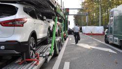 Vrachtwagen rijdt in op file E40, slachtoffer overlijdt