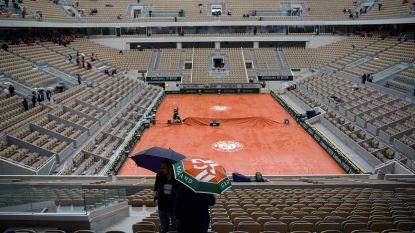 Geen tennis vandaag: regen is spelbreker op Roland Garros