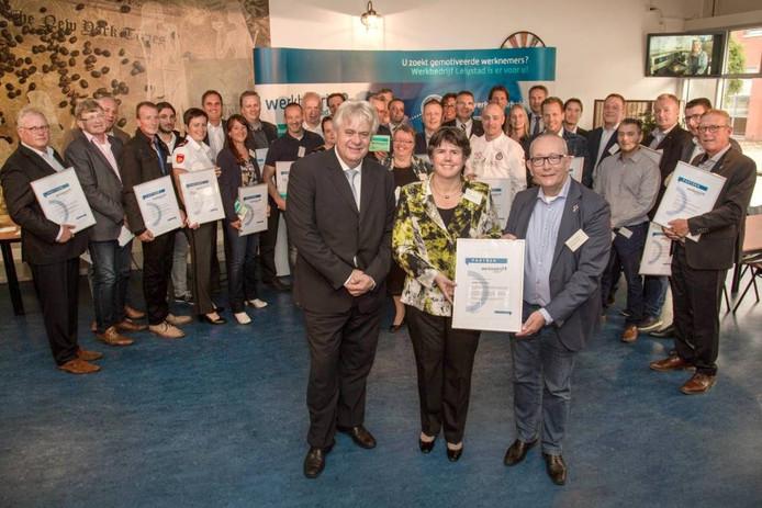 Het certificaat voor de gemeente Lelystad.