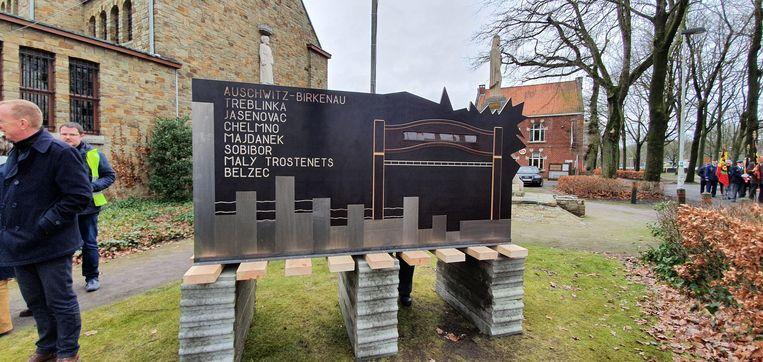 Het monument zal twintig dagen blijven staan.