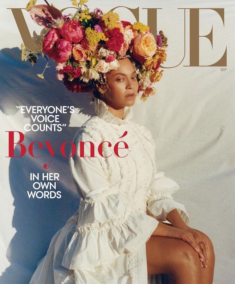 De Vogue-cover met Beyoncé die Tyler Mitchell maakte. Beeld