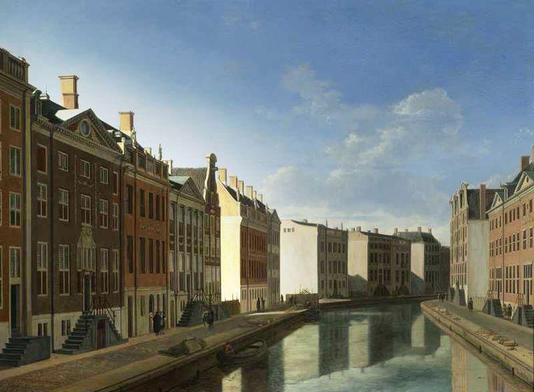 Sommige schilderijen worden geclaimd door ABN Amro en JP Morgan Chase. Zo maakten beide banken onder meer aanspraak op het schilderij De Bocht van de Herengracht van Gerrit Berckheyde. Foto GPD Beeld