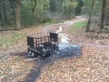 Boswachter geschokt: gedumpt drugsafval op Mookerheide in brand gestoken