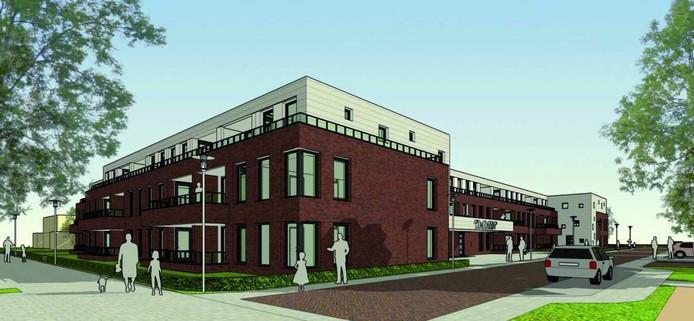 Nieuwe zorgcomplexen, zoals hier in de Dahliastraat in Nijverdal, verrijzen nog maar mondjesmaat.