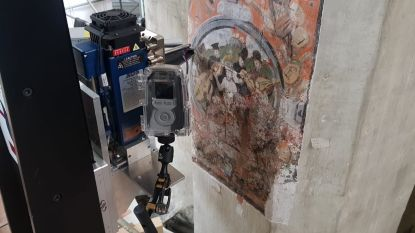 Speciale scanner gaat op zoek naar verborgen muurschilderingen