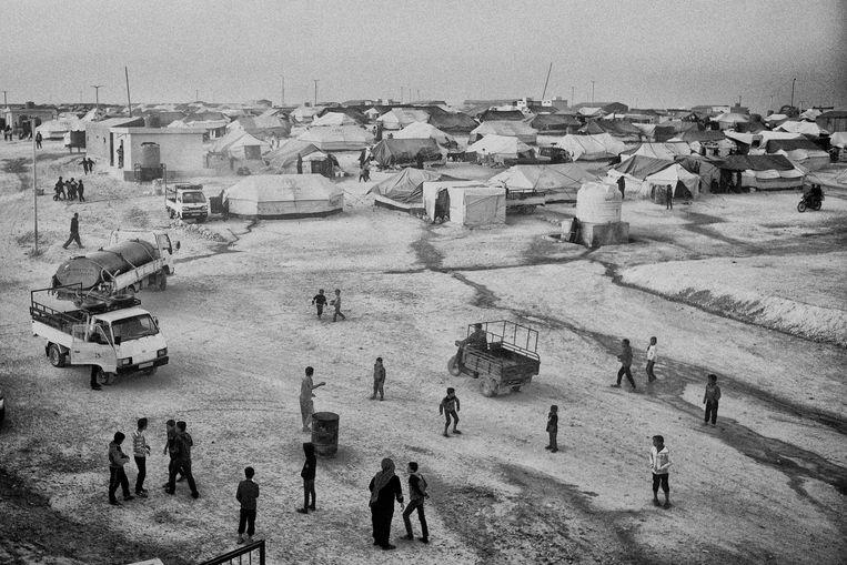 Overzichtsbeeld van het vluchtelingenkamp waar de circa tachtig Nederlandse kinderen verblijven.  FOTO Eddy van Wessel Beeld evw