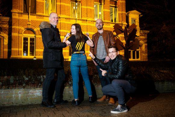 Kristof Van de Velde, Dorien Vanlook, Michael Bryon, Matthew De Permentier.