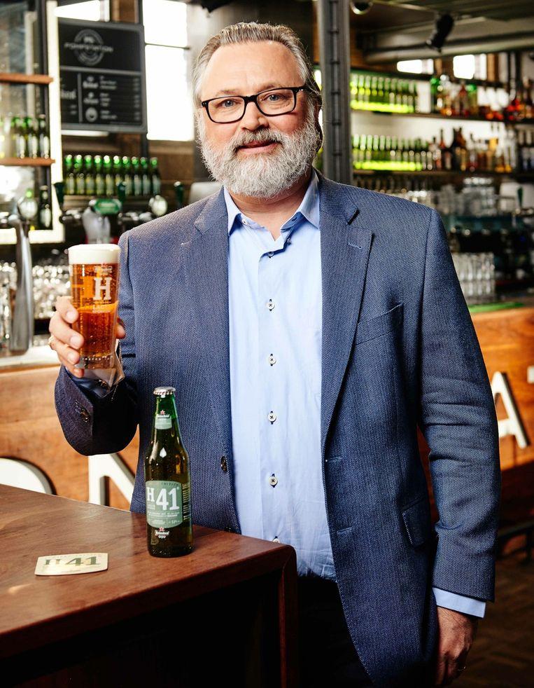 Willem van Waesberghe, meesterbrouwer bij Heineken, werkte 2,5 jaar aan het nieuwe pils. Beeld Heineken