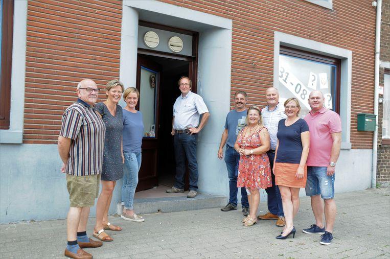 CD&V opende in augustus het pop-up café Bij Laudes (Jos Laudes staat in het deurgat).