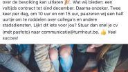 """Facebookpagina van Stad Turnhout gehackt: """"Werken voor de stad? Blank zijn en roddelen over collega's"""""""