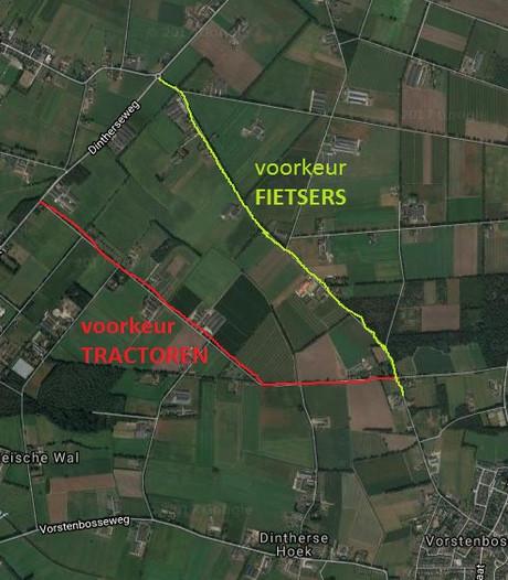 Trekkers laten Kampweg voortaan links liggen, voor de fietser