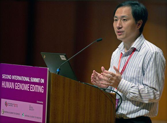 De Chinese wetenschapper He Jiankui.