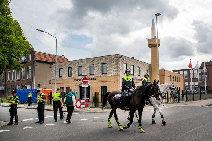 Op 4 september was er een behoorlijke politiemacht op de been. De demonstratie ging toen niet door.