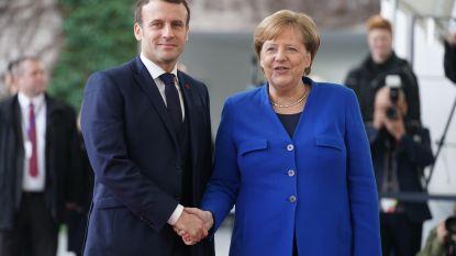 Merkel en Macron in gesprek over Europees economisch herstelplan