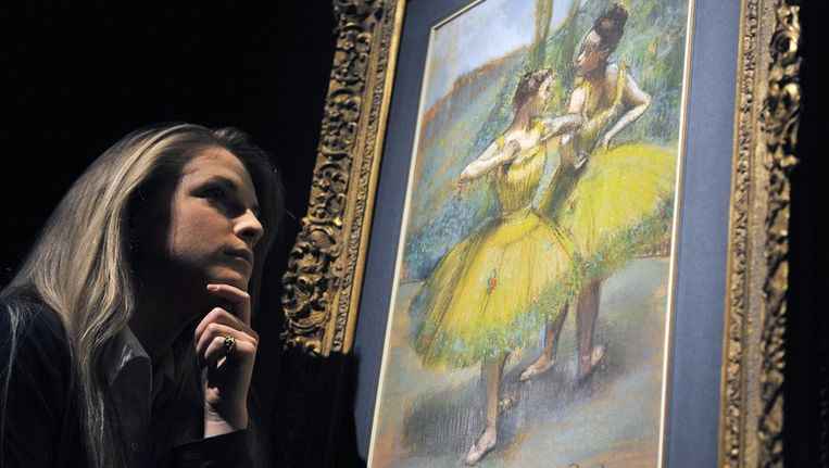 'Danseuses jupes jaunes' (Danseressen in gele rokjes van Degas. Archieffoto © ANP Beeld