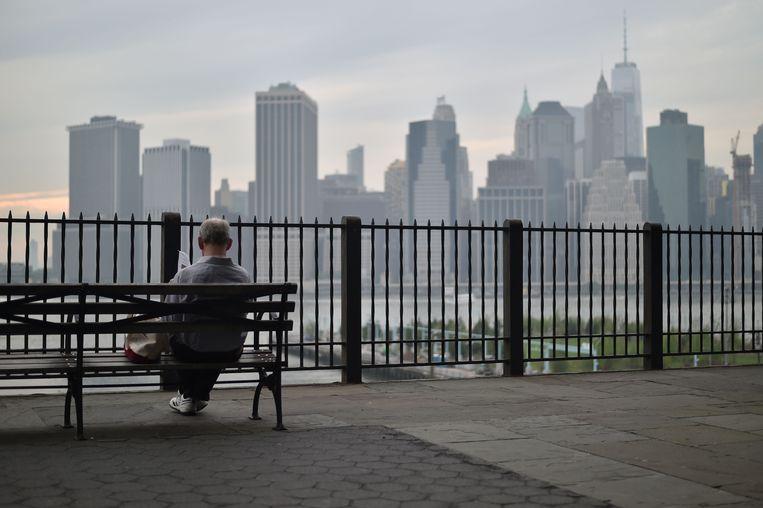 Een bekend beeld uit films met onweerstaanbare aantrekkingskracht: de Brooklyn Heights Promenade. Beeld AFP
