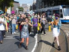 Klimaatdemonstratie Extinction Rebellion blokkeerde Blauwbrug