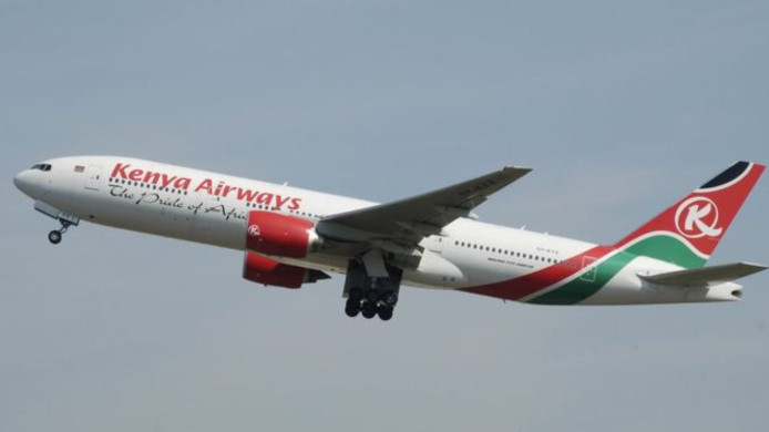 Un avion Kenya Airways.
