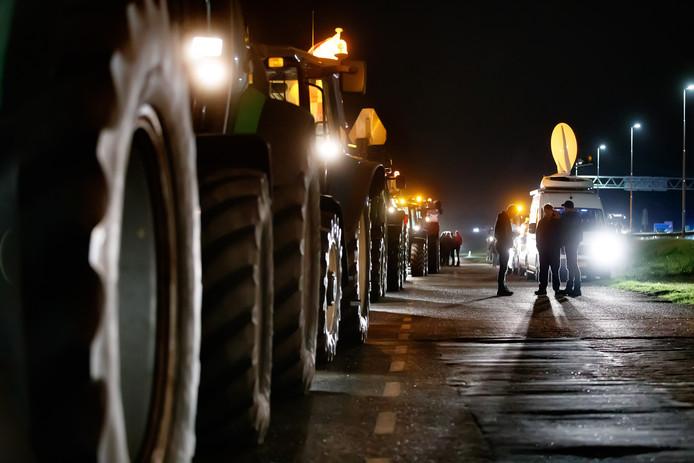 Protesterende boeren.