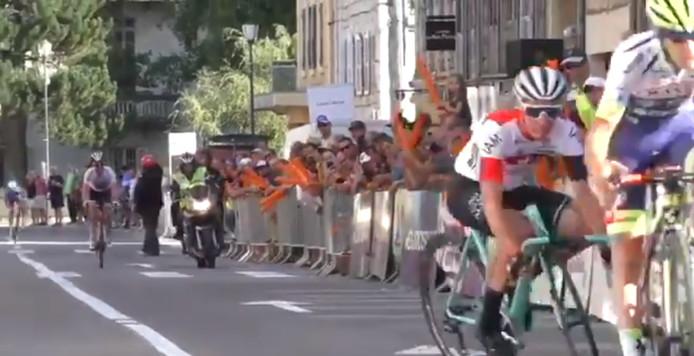 Fin de course délicate pour Simon Pellaud dans le Doubs.