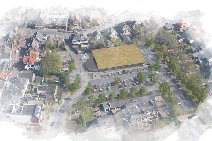 Een impressie van het nieuwe pand van de Aldi in Driebergen.